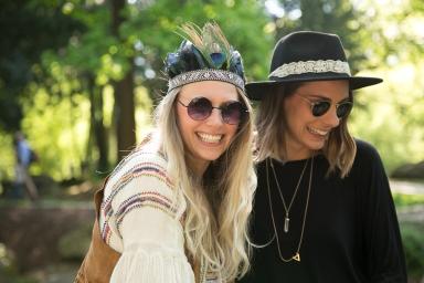 Junggesellinnenabschied Hippi im Englischen Garten